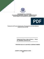 Evaluación Del Proceso de Extracción y Procesamiento de Aridos Mediante Análisis de Ciclo de Vida
