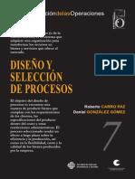 Diseño y Seleccion de Procesos - Carro Paz Gonzalez Gomez