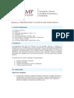Contabilidad y Legislaciòn Tributaria I - Syllabus - 2010-1