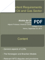 Local Content Requirements in the Oil and Gas Sector - A. de Lima Campos Keynote Day 1