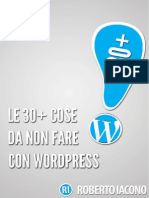 Le 30 Cose Da Non Fare Con WordPress