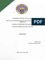 Portafolio de Cuencas Sedimentarias en El Ecuador-Andrés Loja