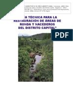 Guia Para La Restauracion de Areas de Ronda y Nacederos Del Distrito Capital