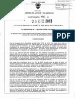 Decreto 3011 Del 26 de Diciembre de 2013