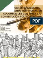 Antecedentes Legales Del Ordenamiento Territorial en Colombia