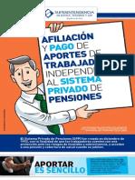GUÍA DE AFILIACIÓN Y PAGO DE APORTES DE TRABAJADORES INDEPENDIENTES AL SPP