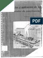 Uso y Aplicación de Los Materiales de Construcción