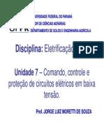 U07 Comando Controle e Protecao Circuitos Eletricos Baixa Tensao
