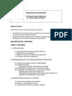 Programa de Procesos de Separación