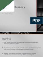 1. Algoritmia, Eficiencia y Exactitud