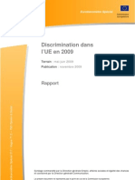 Perception discriminations en Europe - Eurobaromètre 2009