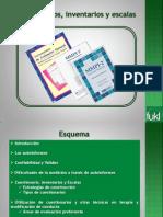 Exposición de Cuestionarios Inventarios y EscalasR