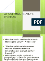 School Public Relations Strategies Ppt