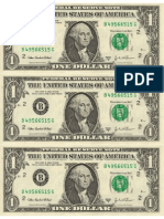 Dollar Origami - Dollar Bill Templates