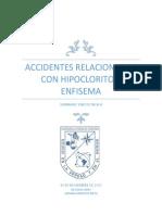 Accidentes Relacionados Con Hipoclorito y Enfisema