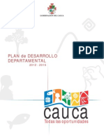 Plan de Desarrollo Departamental 2012 2015 Cauca Todas Las Oportunidades