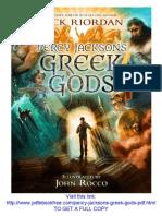 Percy Jackson's Greek Gods PDF Free Download