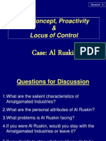 Session 3 Case + Self-concept, Proactivity & Locus of control