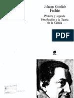 Fichte 1 2 Introduccion Teoria de La Ciencia Trad Gaos OCR