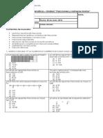 Evaluacion de Fracciones y Numeros Mixtos Sexto Año