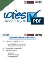 Generalidades de Las Pruebas Saber 359 -2014