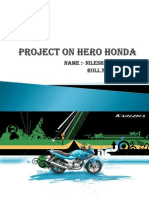 Project on Hero Honda by Nilesh Vazirani Roll Number 54