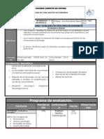 Plan y Programa de Evaluacion 2o 14 15
