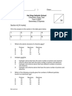 Revised Class Test and Answer Scheme