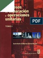 Proceso de Separación y Operaciones Unitarias. Tomo I