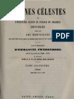Em Swedenborg ARCANES CELESTES TomeQuatrieme Genese XVIII XXI Numeros 2135 2759 LeBoysDesGuays 1845 1889