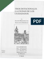 Parametros Dotacionales Para La Ciudad de Los Ciudadanos