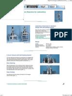 Ernst Haage Apparatebau - Reactors and Pilot Plants