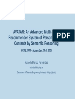 AVATAR an Advanced Multi Agent Recommender System