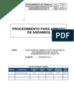 PR-EJ-ByLL-CL.05-001 Procedimiento de Armado de Andamios