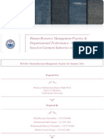 Human Resource Management Practices and Organizational Performance - A Case Study Based on Garments Industries in Bangladesh
