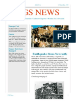 gregory cgs news newcastle earthquake