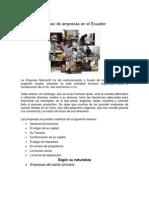 Clases de Empresas en El Ecuador2
