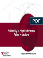 Weldability of HPS Sections