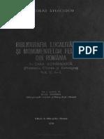 N. Stoicescu Bibliografia Localitatilor Si Monumentelor Feudale Din Romania, Vol. 1 a-L