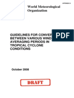 Guidelines for Converting Between Various Wind Averging Periods in Tropical Cyclone Conditions