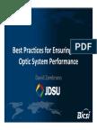 04-David Zambrano - JDSU - Ensuring Fiber Optic System Performance