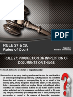 Rule 27 and 28