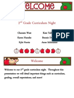 2nd Grade Curriculum Night Presentation