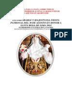 Programa General 30 Agosto 2014 Santa Rosa Carhuamayo