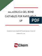 76-Microsilica-gel Bond Castables for Rapid Heat-up