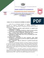 Codul Etic Al Federatiei Romane de Karate Traditional