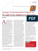 Article on Circumstantial Evidence in the light of the judgment of Afzal Guru