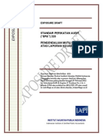 ED SPA 220 - Pengendalian Mutu Untuk Audit Atas Laporan Keuangan