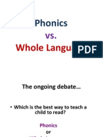 Phonics vs. Whole Language Kramer Holland