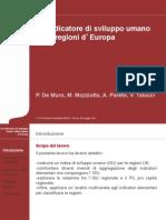 Un indicatore di sviluppo umano delle regioni d'Europa